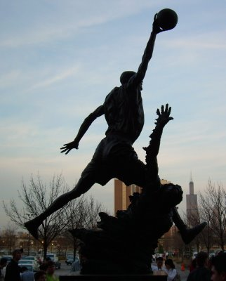 Michael Jordan's statue at the United Center